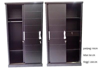 model lemari baju minimalis 2 pintu modern