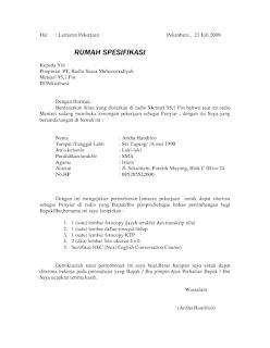 Contoh Surat Lamaran Kerja Pegawai Honorer Pemba PALING BENAR
