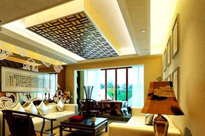 model plafon ruang tamu ukuran kecil minimalis