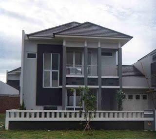 rumah mewah minimalis 2 lantai tampak depan